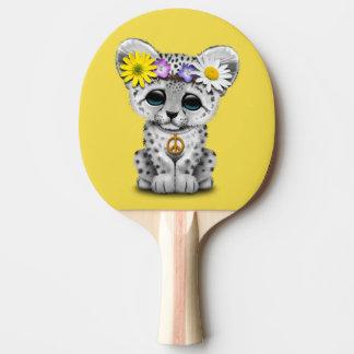 Raquete De Ping-pong Leopardo de neve bonito Cub do Hippie