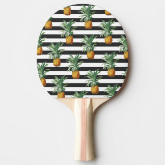 Raquete De Ping Pong listras dos abacaxis cinzentas