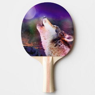Raquete De Ping Pong Lobo de Howlin - lobo da lua - lobo principal