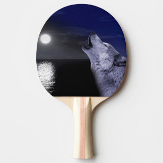 Raquete De Ping Pong Lobo de mar - lobo da lua - Lua cheia - lobo