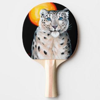 Raquete De Ping Pong Lua do leopardo de neve