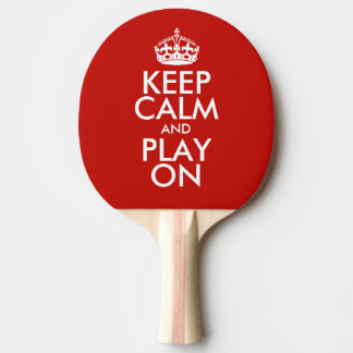 Raquete De Ping-pong Mantenha a calma e o jogo sobre