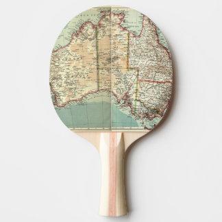 Raquete De Ping-pong Mapa detalhado do continente australiano antigo do