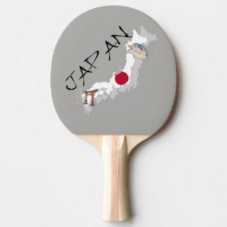 Raquete De Ping-pong Mapa e bandeira de Japão