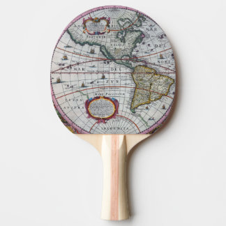Raquete De Ping-pong Mapas velhos de América