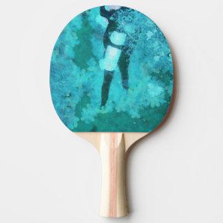 Raquete De Ping-pong Mergulhador e bolhas de mergulhador