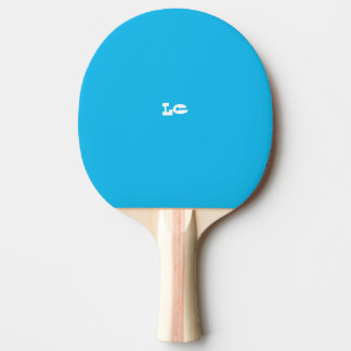 Raquete De Ping-pong Monograma do azul da festa na piscina