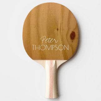 Raquete De Ping Pong monograma em grões da madeira do falso