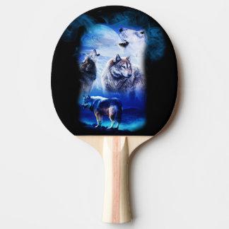 Raquete De Ping Pong Montanha da lua do lobo da fantasia