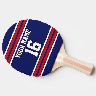Raquete De Ping Pong Nome feito sob encomenda vermelho do número do