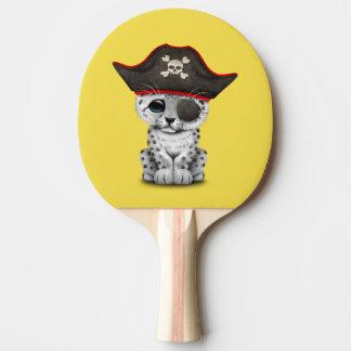Raquete De Ping Pong O leopardo de neve bonito Cub do bebê pirateia