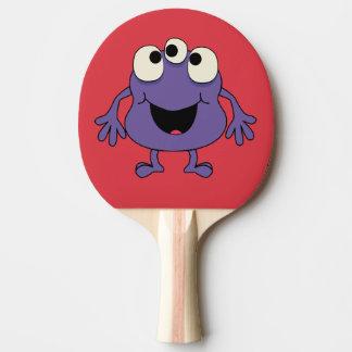 Raquete De Ping-pong O monstro roxo caçoa a pá do ténis de mesa