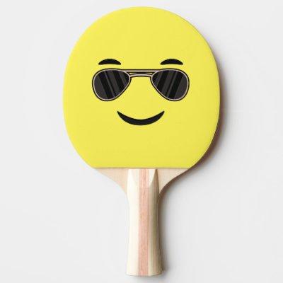cdbc85659e2db Raquete De Ping Pong emoji   Zazzle.com.br
