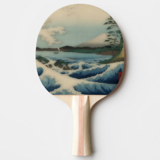 Raquete De Ping-pong Opinião do mar do ponto de Satta