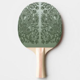 Raquete De Ping-pong ornaments o verde de musgo