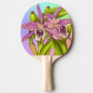 Raquete De Ping Pong Orquídeas cor-de-rosa coloridas