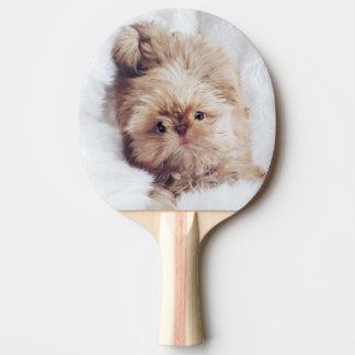 Raquete De Ping Pong Pá alaranjada do pong do sibilo do filhote de