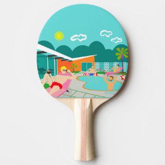 Raquete De Ping Pong Pá alegre retro de Pong do sibilo da festa na