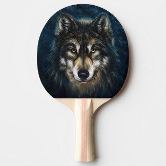 Raquete De Ping Pong Pá artística de Pong do sibilo da cara do lobo