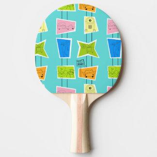 Raquete De Ping Pong Pá atômica retro de Pong do sibilo do kitsch