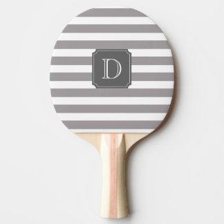 Raquete De Ping Pong Pá cinzenta e branca de Pong do sibilo do