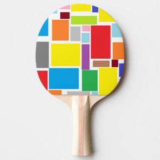 Raquete De Ping Pong Pá colorida de Pong do sibilo dos blocos das