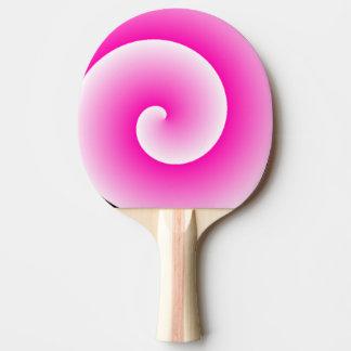 Raquete De Ping Pong Pá cor-de-rosa de Pong do sibilo do redemoinho do