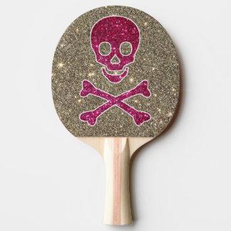 Raquete De Ping Pong Pá cor-de-rosa e de prata de Pong do sibilo do