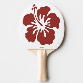 Raquete De Ping-pong Pá de Pong do sibilo da flor do hibiscus