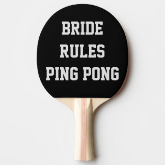 Raquete De Ping-pong Pá de Pong do sibilo das regras da noiva
