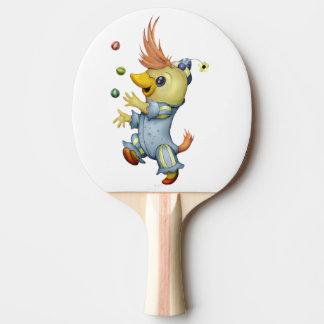 Raquete De Ping Pong Pá de Pong do sibilo do BEBÊ RIUS, parte traseira