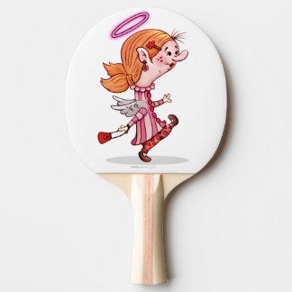 Raquete De Ping-pong Pá de Pong do sibilo dos desenhos animados do ANJO