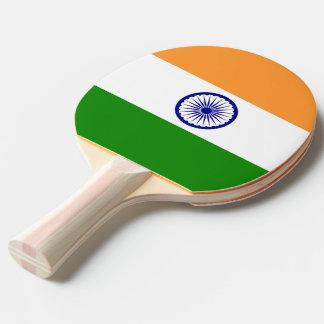 Raquete De Ping Pong Pá do pong do sibilo com a bandeira de India