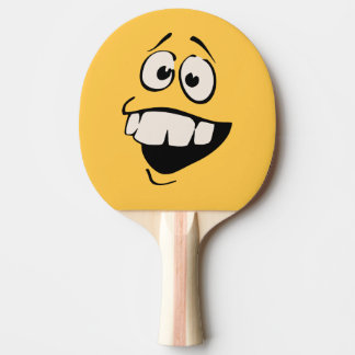 Raquete De Ping Pong Pá do sibilo do smiley face dos dentes de