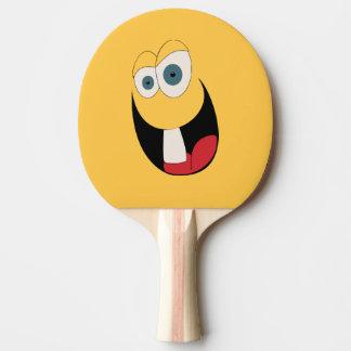 Raquete De Ping-pong Pá engraçada de Pong do sibilo da cara do único