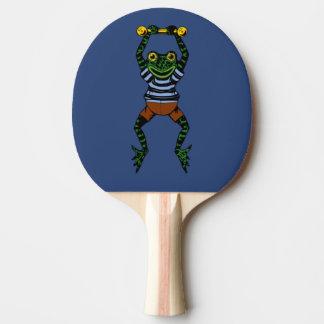 Raquete De Ping-pong Pá frente e verso de Pong do sibilo do sapo dos