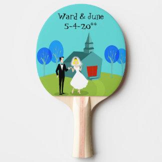 Raquete De Ping Pong Pá retro de Pong do sibilo do casal do casamento