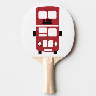 Raquete De Ping-pong Pá vermelha do pong do sibilo do ônibus do
