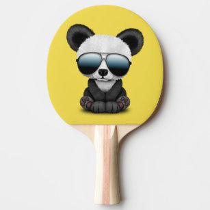 e7f28d4fb0022 Raquete De Ping Pong Panda bonito do bebê que veste óculos de sol