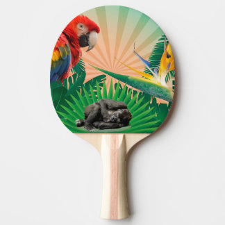 Raquete De Ping-pong Papagaio da selva do gorila