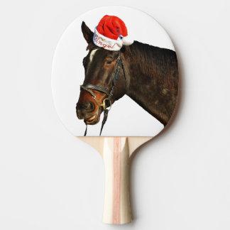 Raquete De Ping-pong Papai noel do cavalo - cavalo do Natal - Feliz