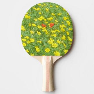 Raquete De Ping-pong Papoilas da aguarela
