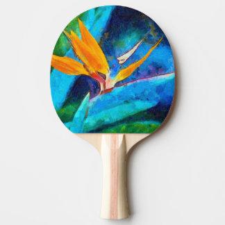 Raquete De Ping Pong pássaro da flor de paraíso