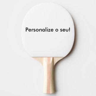 Raquete de ping-pong personalizável
