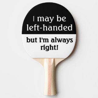Raquete De Ping-pong Pessoas canhotas do humor