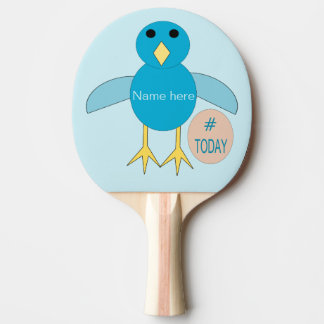Raquete De Ping Pong Pintinho azul feito sob encomenda do menino do
