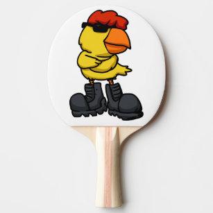 Raquete De Ping Pong Pintinho com óculos de sol e botas 9cc470b471