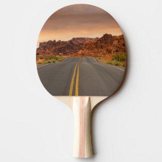 Raquete De Ping-pong Por do sol da viagem por estrada