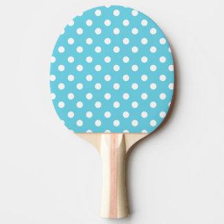 Raquete De Ping-pong Presentes azuis e brancos do teste padrão de