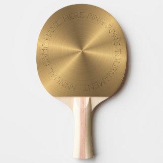 Raquete De Ping Pong Radial metálico personalizado do ouro de aço